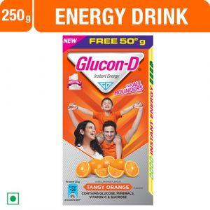 Glucon-D, Orange Flavoured Glucose, 250g Carton