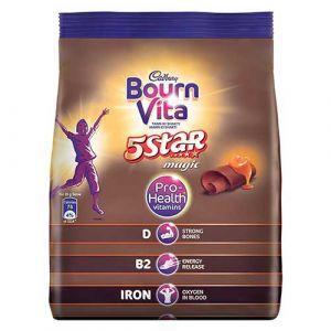 Bournvita 5 Star Magic Pro-Health Chocolate Drink, 500 gm Pouch
