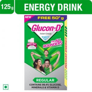 Glucon-D Instant Energy Regular Glucose, 75+50g Carton
