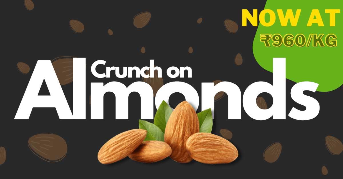 Premium California Almonds at lowest price in Rajamahendravaram